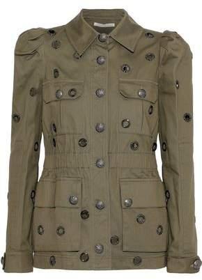 Veronica Beard Lewis Eyelet-Embellished Cotton-Twill Jacket