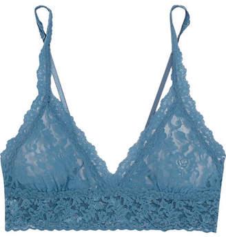 Signature Stretch-lace Soft-cup Bra - Storm blue
