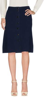 Allude Knee length skirts
