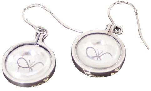 Bottega VenetaBottega Veneta Silver Butterfly Hook Drop Pierce Earrings