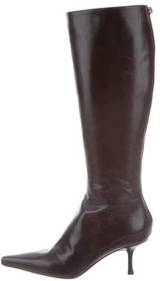 Jimmy Choo Pointed-Toe Knee-High Boots