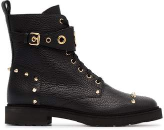 Fendi lace-up logo ankle boots