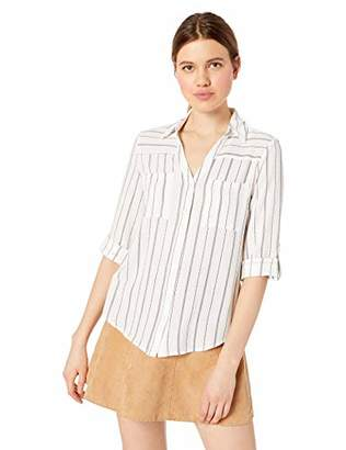 Amy Byer A. Byer Junior's Chiffon Tab-Sleeve Top