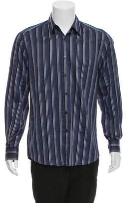 Valentino Stripe Button-Up