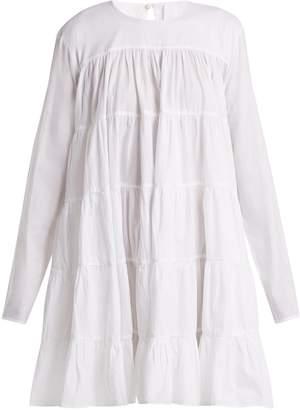 MERLETTE Soliman tiered cotton mini dress