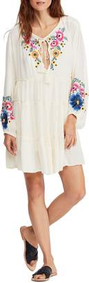 Free People Floral Embroidered Shift Dress