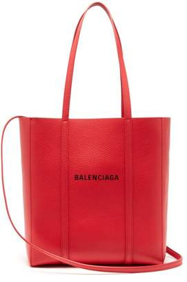 Balenciaga Everyday Xs Leather Tote - Womens - Red