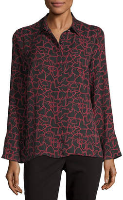 Liz Claiborne Womens Long Sleeve Blouse