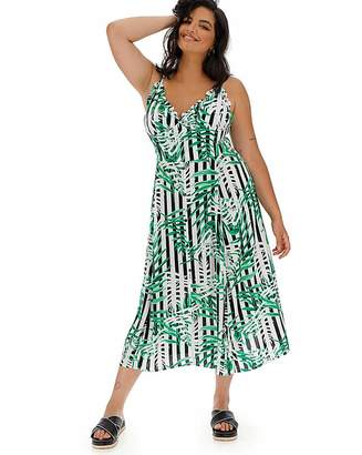 db4e5a0c03 Glamorous Stripe and Tropical Maxi Dress