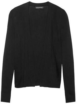 Banana Republic Silk-Cotton Rib-Knit Cropped Cardigan Sweater