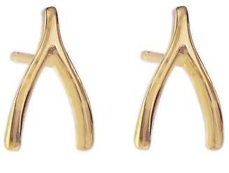 Jennifer Meyer Wishbone Stud Earrings - Yellow Gold