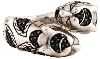 John Hardy Black Sapphire Palu Macan Tiger Ring