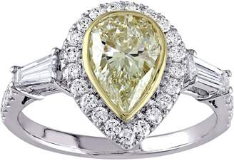 Affinity Diamond Jewelry Pear Shaped Yellow Diamond Ring, 14K, 2.00 cttw, by Affinity