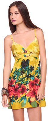 Forever 21 Tropical Surplice Dress