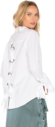 MLM Label Cairo Eyelet Button Up $175 thestylecure.com