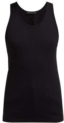Helmut Lang Ribbed Cotton Jersey Tank Top - Womens - Black