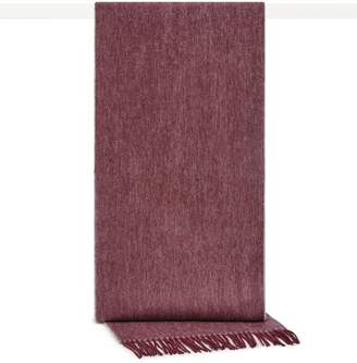 Reiss Kingston - Cashmere Blend Scarf in Burgundy