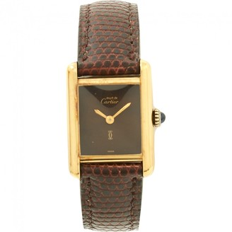 Cartier Tank Must silver gilt watch