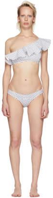 Lisa Marie Fernandez White Arden Double Flounce Bikini