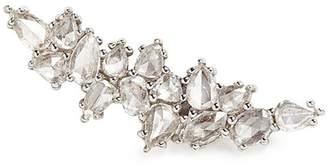 Monique Péan 'Atelier' diamond 18k white gold single climber earring