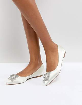 Dune London Dune Bridal Bridal Briella Embellished Flat Shoes