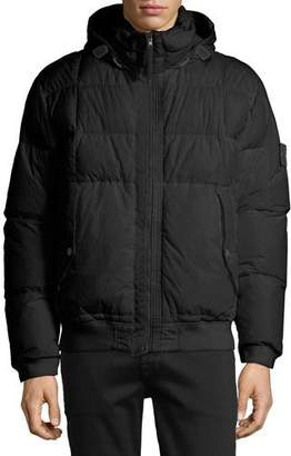 Stone Island Men's Down Bomber Puffer Jacket
