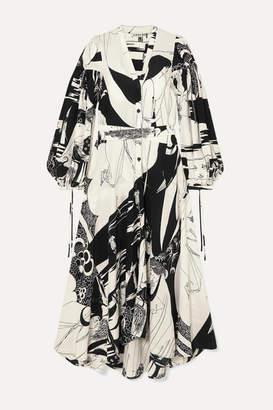 Loewe Printed Crepe Maxi Dress - Black