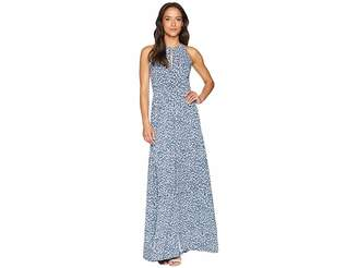 MICHAEL Michael Kors Floral Halter Maxi Dress Women's Dress