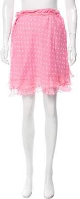 Blugirl Silk Polka-Dot Skirt