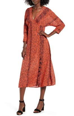 Angie Leopard Print Midi Dress