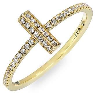 Bony Levy 18K Yellow Gold Diamond Small Bar Stack Ring - 0.15 ctw