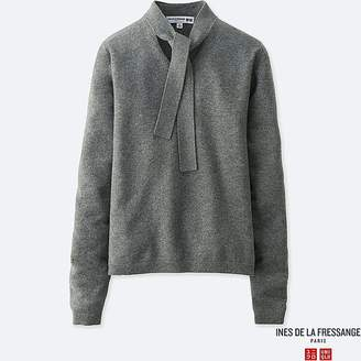 Uniqlo Women's Cashmere Ribbon-tie Sweater (ines De La Fressange)