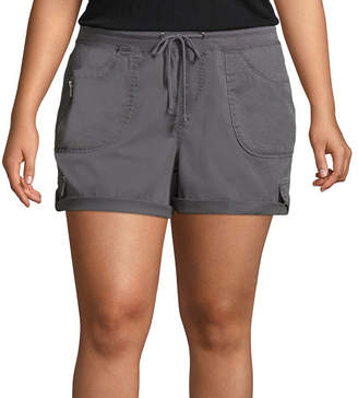 UNIONBAY Woven Pull-On Shorts-Juniors