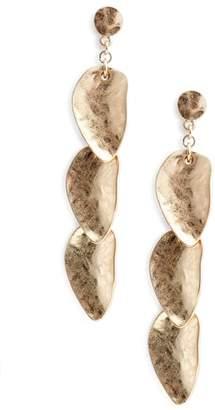Treasure & Bond Organic Petal Cascade Drop Earrings