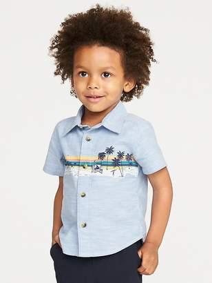 Old Navy Beach-Graphic Slub-Weave Shirt for Toddler Boys