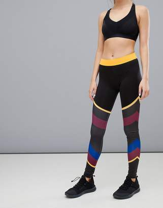 South Beach Color Block Multi Stripe Gym Leggings