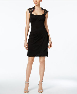 X By Xscape Lace-Trim Sheath Dress $109 thestylecure.com