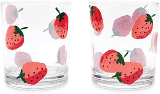 Kate Spade Strawberries Acrylic Tumblers - Set of 2