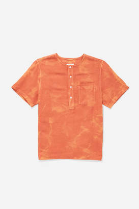 Saturdays NYC Pontus Linen Short Sleeve Shirt