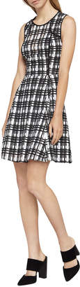 BCBGeneration Plaid Lace-Mix Dress