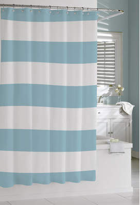 Rosecliff Heights Prospero Stripes Cotton Shower Curtain
