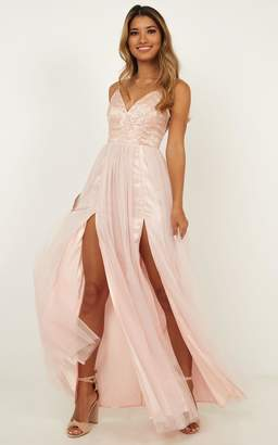Showpo Just A Fantasy Dress in blush - 16 (XXL) Occasion Dresses