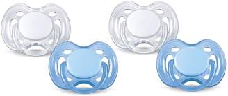 Philips Freeflow Pacifier BPA, Free Blue / White, 0-6 Months (Pack of 4)