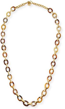 Ashley Pittman Shamba Light Horn Link Necklace