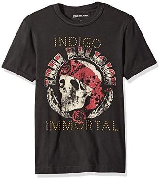 True Religion Men's Short Sleeve Stud Embellished Immortal Tee