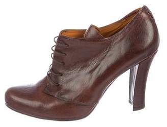 Henry Beguelin Leather Round-Toe Booties