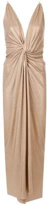 Alexandre Vauthier metallic studded evening gown