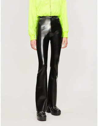 HANGER Flared latex trousers