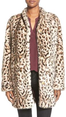 Via Spiga Cheetah Print Faux Fur Coat $198 thestylecure.com