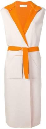 Lamberto Losani belted long waistcoat